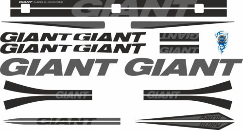 GIANT GLORY Frame Stickers Factory Decal Adhesive Graphic Vinyl Set Gray