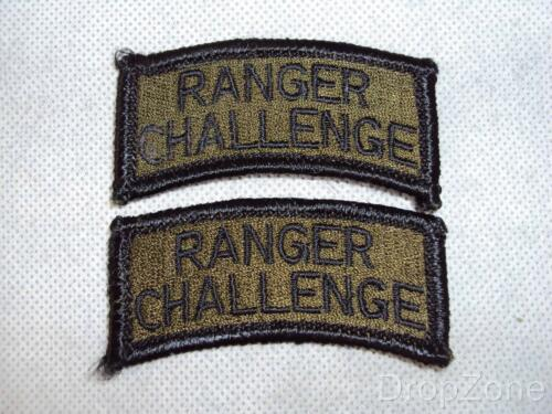 Patches Pair of US Army SAPPER or RANGER CHALLENGE Tabs Badges