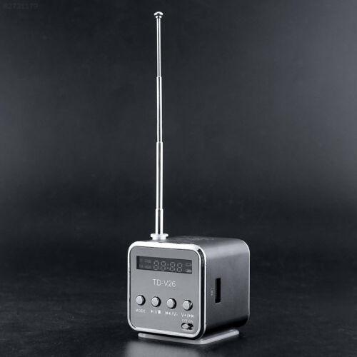 64D5 hot fashionable Mini Speaker Music Player Portable SD//TF Radio PC Black