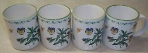 SET-OF-4-STUDIO-NOVA-GARDEN-BLOOM-3-3-4-034-Mugs-Excellent-Condition