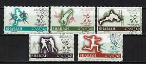 193-197 Gestempelt Panarabische Spiele LiebenswüRdig Sharjah Minr Kairo 1965
