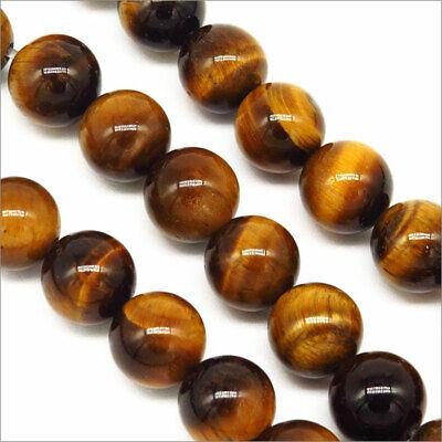 Lot de 30 Perles Pierres Naturelles Oeil de Tigre 8mm