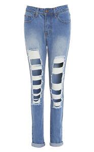 denim donne blu 14 Taglia strappati Jeans 8 12 10 Nuove strappati 6 wIqTdgcPx