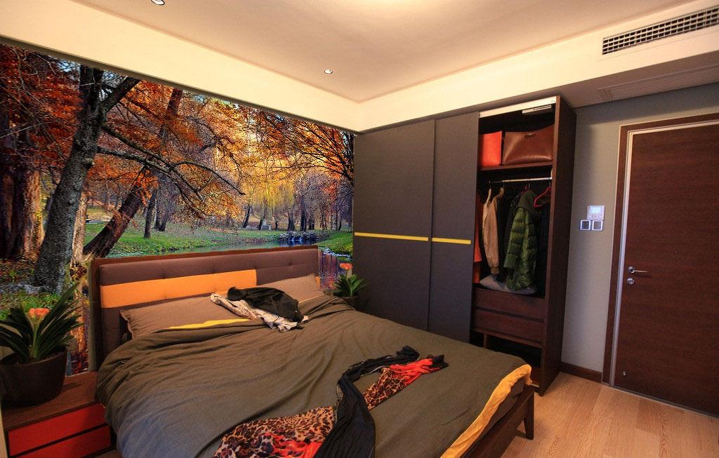3D Forest tranquil boat WallPaper Murals Wall Print Decal Wall Deco AJ WALLPAPER