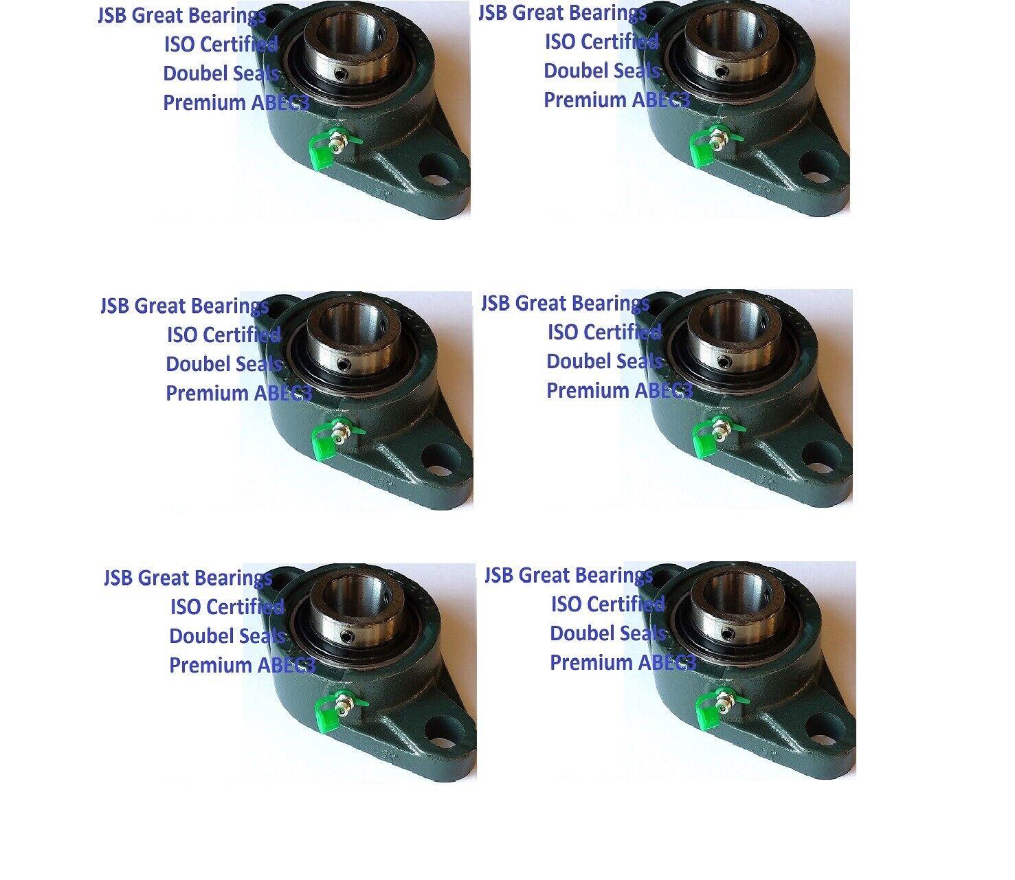 (6) Premium UCFL202-10 double seals ABEC3 oval flange bearings 5 8 bore UCFL202