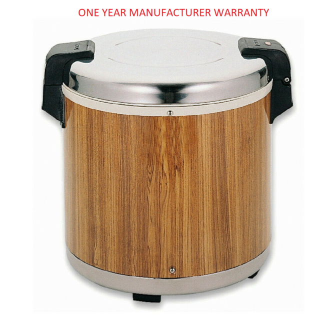 LARGE Wood Grain Rice Warmer 50 Cups for Restaurant Take Away 395Wx395Dx385Hmm