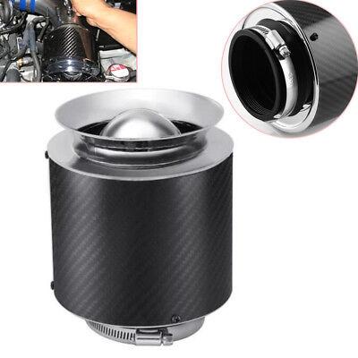 "3/"" Inlet//5/""H Carbon Fiber Style Hi-Flow Air Filter For Cold Air//Short Ram Intake"