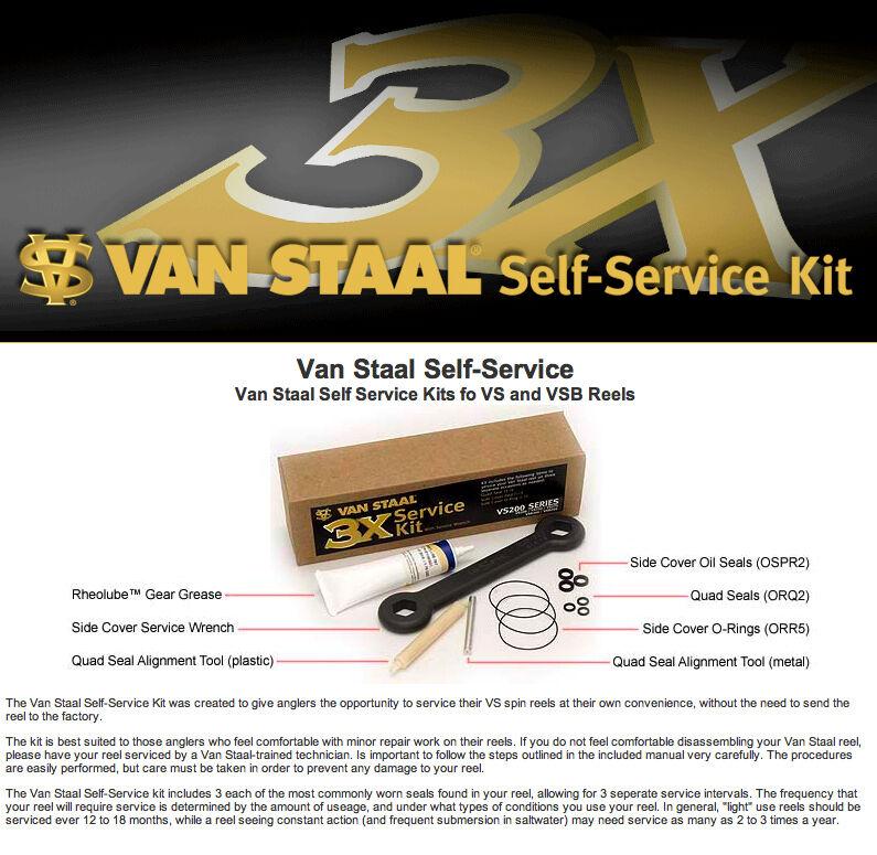 Van Staal Self Service Kits for VS & VSB 200-250-275 Reels