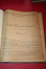 TYPOGRAPHIE COURS D'ELECTRICITE INDUSTRIELLE  ECOLE UNIVERSELLE PARIS