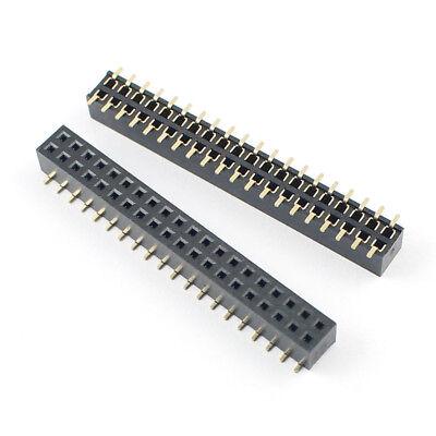 50Pcs 2mm 2.0mm Pitch 1x40 Pin 40 Pin Single Row SMT SMD Female Header Strip