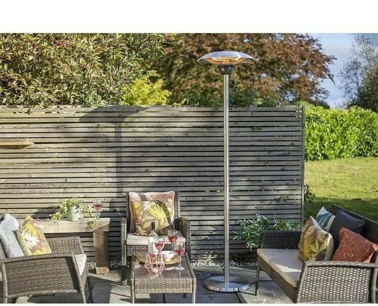 Lume 2100w Halogen Free Standing Heater Patio New Infrared RRP£195