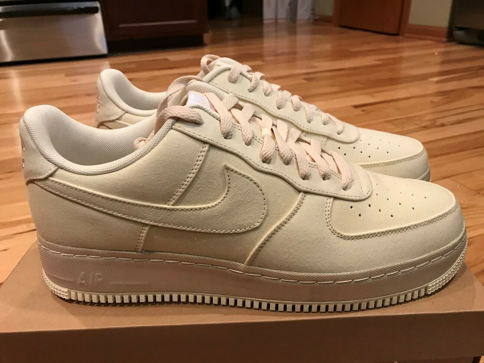 Nike Air Force 1 07 LV8 NYC Procell Canvas Muslin Desert Ore CJ0691 100 SIze 13