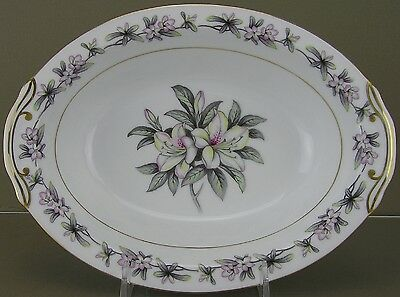 "Towne Fine China, Azalea Pattern, 10"" Oval Vegetable Bowl - [0514-0014]"