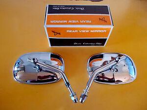 Harley-Mirrors-Shovelhead-Sportster-Stainless-Head-NOS-Made-in-Japan-91875-70