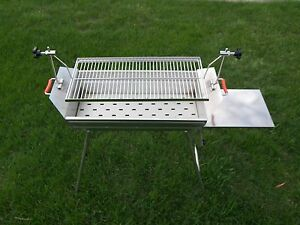 Image Is Loading Adjustable Stainless Charcoal Shish Kabob Barbecue BBQ  Grill