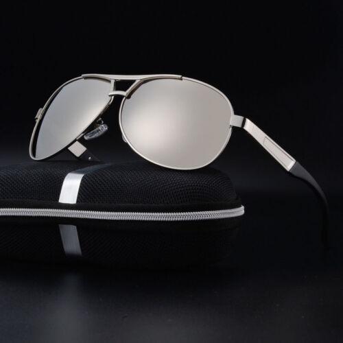 Polarized Metal Frame Sunglasses Mens Retro Aviator Drving Eyewear Eye Glasses