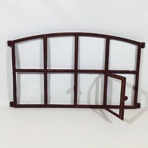 612A  Antik Stallfenster Gusseisen Fenster Trockenmauer Steine Natursteinmauer