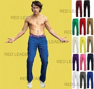 Mens-Regular-Fit-Cotton-Chino-Trousers-Jeans-Pants-Straight-Leg-Asquith-Fox