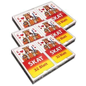3er-Set-Skat-Spielkarten-2x32-Skatblatt-Kartonetui-Skatkarten-Skatspiel-Karten