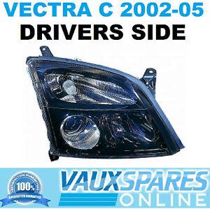 Details About Vectra C Pre Facelift Front Black Sports Headlight Drivers Off Side Sri Cdti Etc