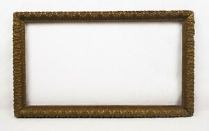Antique-19th-C-Victorian-Picture-Frame-Gold-Gilt-Gesso-Baroque-Fits-15-x-8-25
