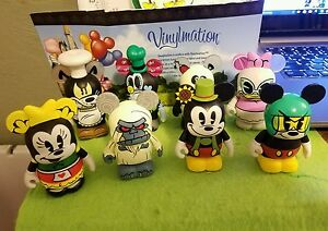 "DISNEY Vinylmation 3"" Park Set 1 Cartoon Mickey Set 8 Chaser Yeti Mickey Minnie"