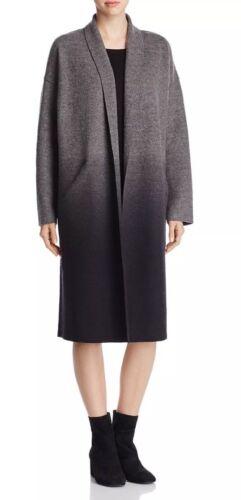 Ash Eileen K Nieuw Ombre Fisher Coat l m Gekookt 478 charcoal S Wol Kimono ExIddw8
