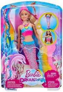 Barbie-Dreamtopia-Rainbow-Lights-Mermaid-Blonde-Pink-Hair-Doll-Toy-Girls-Play