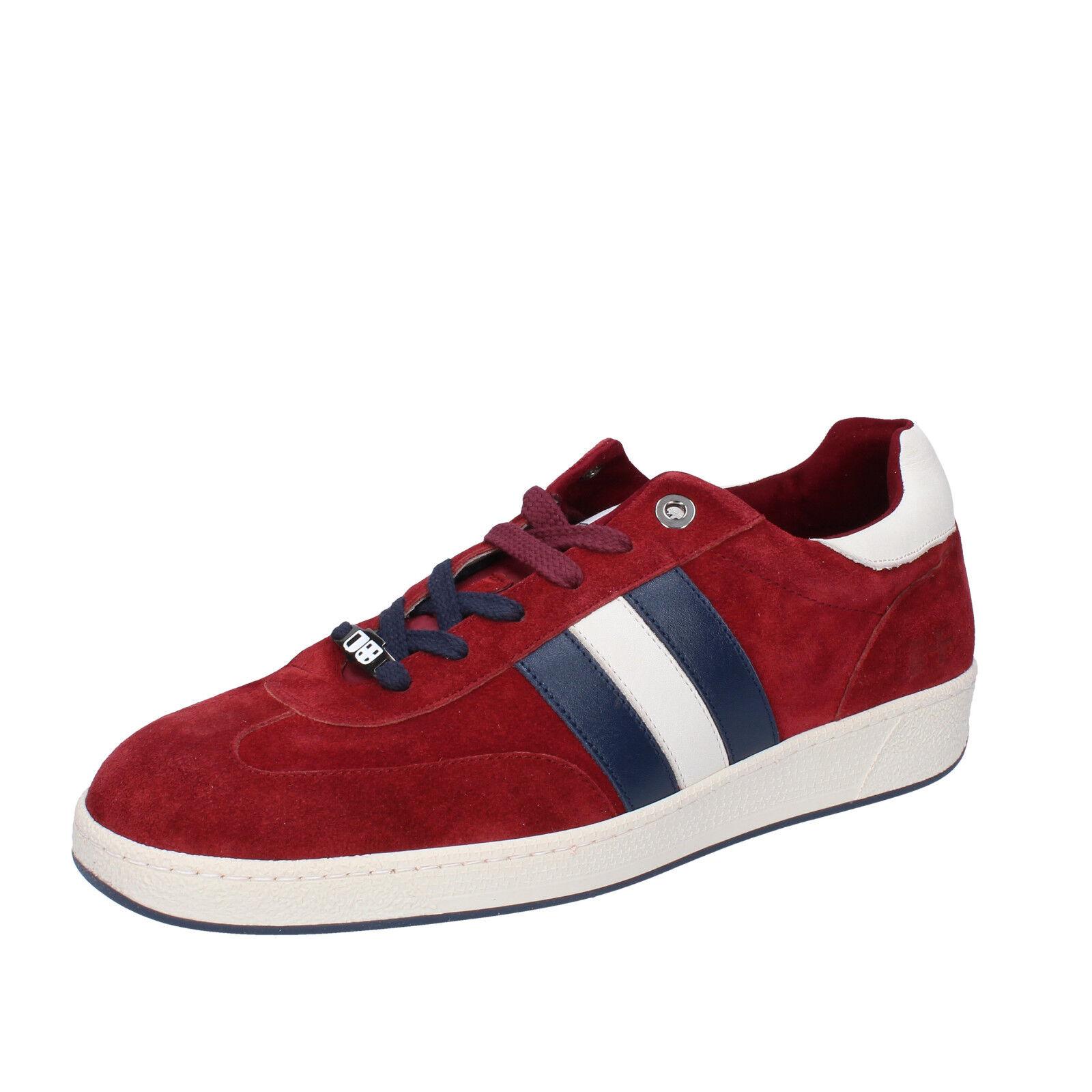 Men's shoes D' ACQUASPARTA 10 (EU 43) sneakers burgundy suede AB869-43