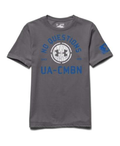Under Armour Big Boys UA Combine Training No Question Large Grey nwt $25