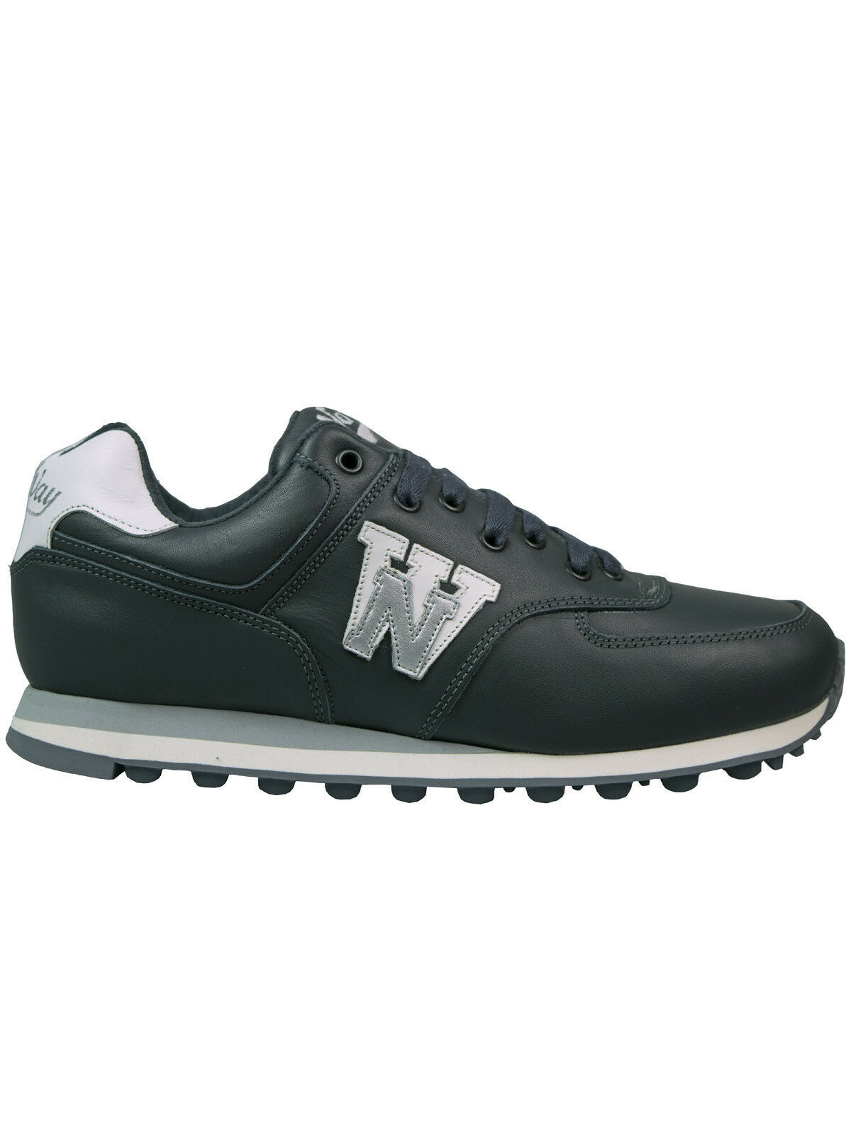 No Way Turnschuh   Sneaker   Schuh 3662 Glattleder grey   Grey Antrax  5003