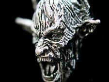 Anhänger Silber 925 Skull Death Teufel Devil Hörner Dämon Diabolo Satan Baphomet