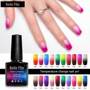BELLE-FILLE-Temperature-Color-Changing-Nail-Gel-Polish-Soak-off-UV-Manicure-Gel