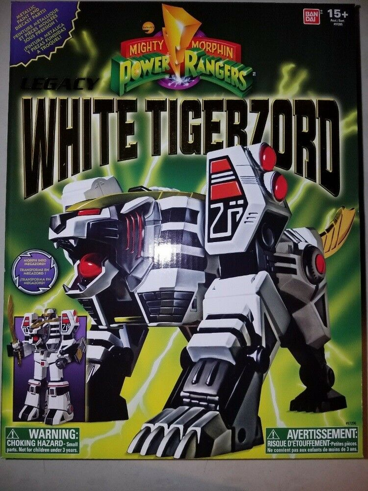 Mighty Morphin Power Rangers Ranger Megazord Legacy tigerzord blancoo (Menta en caja sellada)
