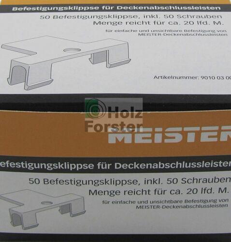 MEISTER Klipse für Deckenabschlussleiste