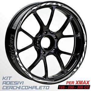 Adesivi-cerchi-ruote-XMAX-125-250-300-cc-set-profili-BIANCO-GRIGIO-R-5t