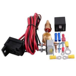 12V-DC-Kuehlerluefternachlauf-Relais-Thermostat-Set-Schalter-Sensor-175-185-Grad