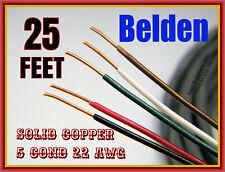 22 AWG BELDEN 5523UE 5-COND SOLID-COPPER 25-FEET GRAY JACKET