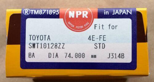 NEW NPR SWT10128 Piston Rings Fit 91-98 Toyota Paseo Tercel 4EFE//5EFE DOHC 1.5L