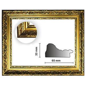 Bilderleiste 840 ORO Barockleiste gold Länge 1 Meter gold verziert