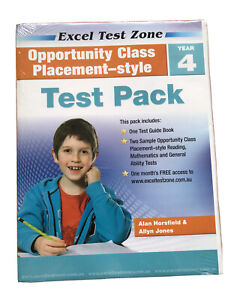 Excel Test Zone Class test Pack Opportunity Class Placement Style Test PK Year 4