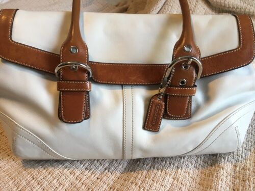COACH Classic Vintage Beautiful White Leather