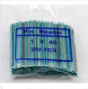 200pcs Green 1 x 40pin 2.54mm Single Row Breakaway Male Pin Header for Arduino