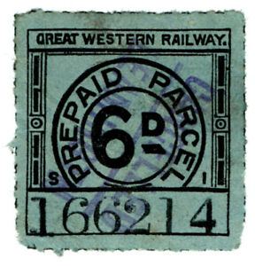 I-B-Great-Western-Railway-Prepaid-Parcel-6d-Leamington-Spa