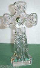 "Waterford KELLS Standing Cross Crystal Sculpture 9.5""H Religious Giftware New"