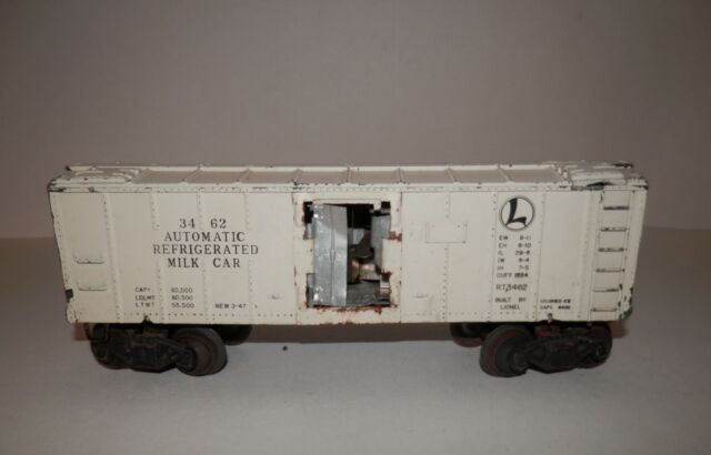 Lionel O Scale Automatic Refrigerated Milk Car #3462 - PARTS OR RESTO