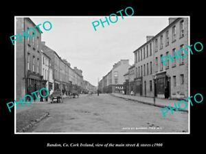 OLD-LARGE-HISTORIC-PHOTO-OF-BANDON-Co-CORK-IRELAND-THE-MAIN-ST-amp-STORES-c1900-1