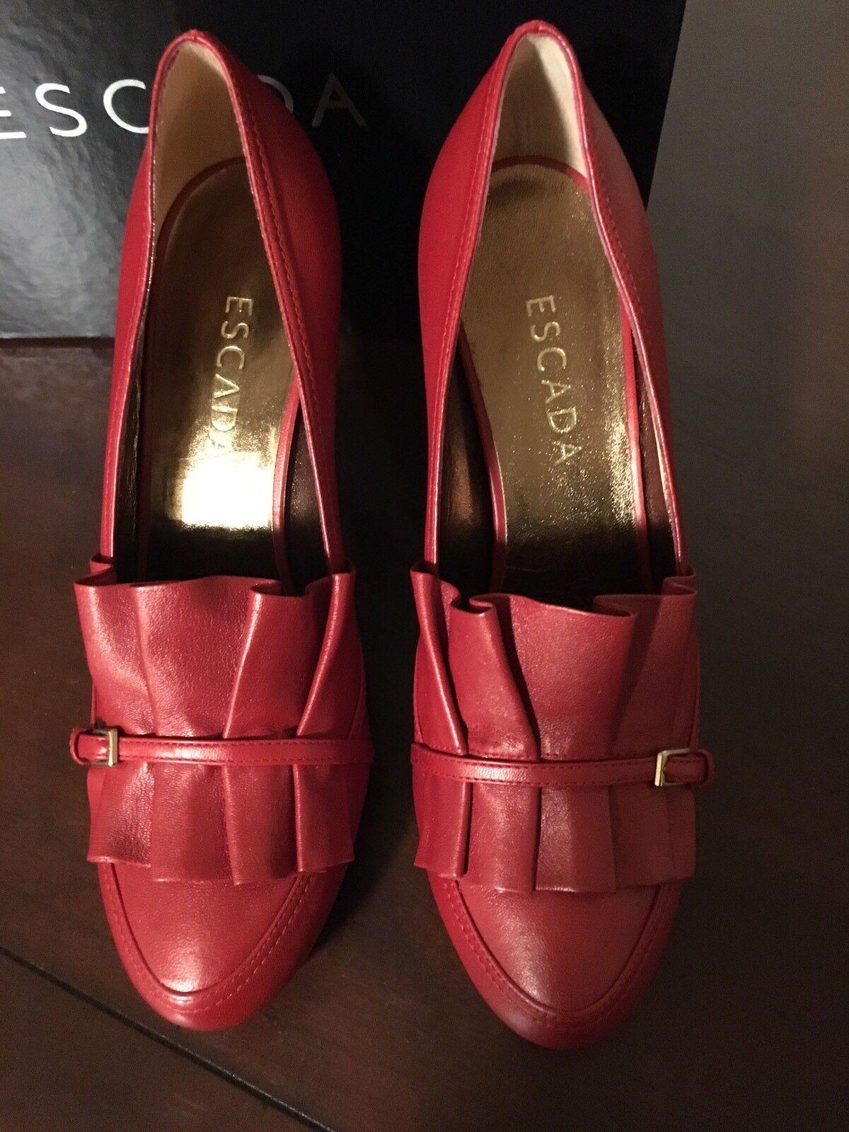 Nuevos Tacones Rojo Escada con kiltieTalla kiltieTalla kiltieTalla 8 Hecho en Italia Orig.  450.00  connotación de lujo discreta