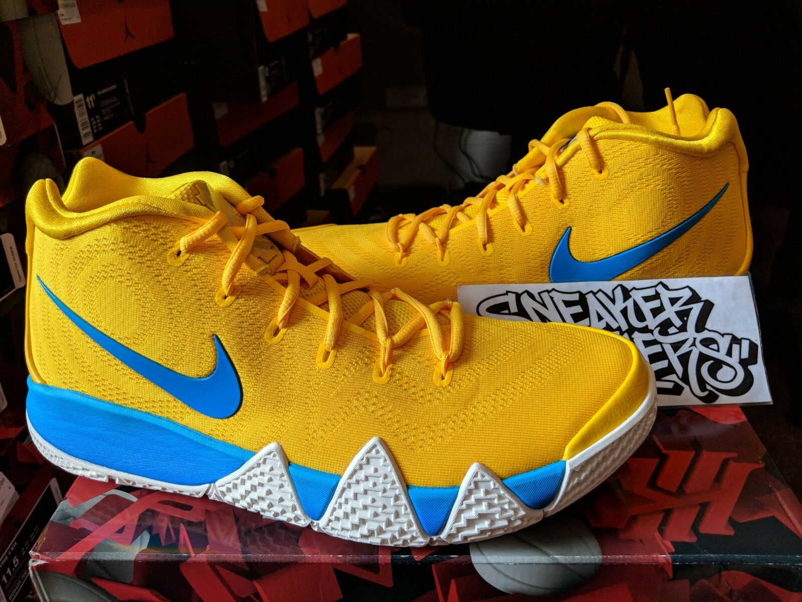 Nike Kyrie 4 IV Kix Amarillo Multi-Color Yellow Blue Cereal Pack BV0425-700