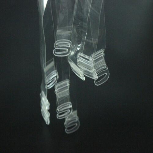 1//2//5 Pairs 1.5cm Wide Clear Transparent Invisible Adjustable Shoulder Bra Strap